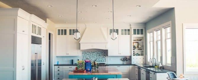 Une cuisine bien décorée